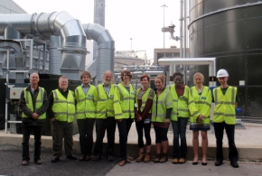 Taking a group of traders to visit GenEco, where the company transforms food waste into heat, power and soil conditioner.