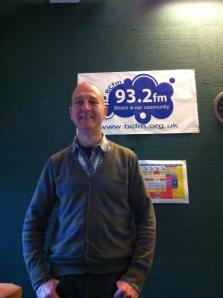 In the studios taking part in Kate Cooke and colleague's BCFM Wellbeing show