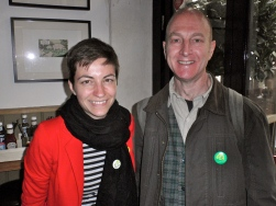 Martin meeting European Green parties' lead Presidential candidate for the European Commission, Ska Keller in Bristol. We discussed work with local traders to support high streets. More about her visit here: http://t.co/mUrJOghish #skaontour Ska Keller, Green MEP the youngest ever MEP in the European Parliament, attended the launch of the Green Party Youth Manifesto http://younggreens.org.uk/assets/images/younggreen%20images/documents/Youth%20Manifesto%20Euro%20FINAL.pdf
