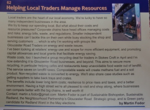 Article about my work with local traders in Redland, Cotham and Westbury Park Directory