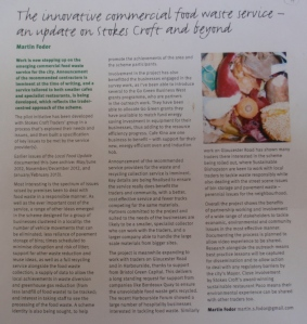 Progress working with local traders, reported in Bristol Local Food newsletter. The participatory process involved traders and shaped a new service around their needs.